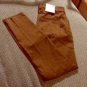 Brown/dark mustard ankle length H&M slacks